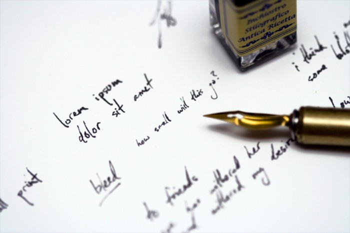 The writing at the ball image